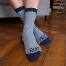 Les lucas graumeliert 1882 - Socken LSF X Racing 92
