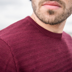 Pulls Homme - Le Icare prune - Pull homme