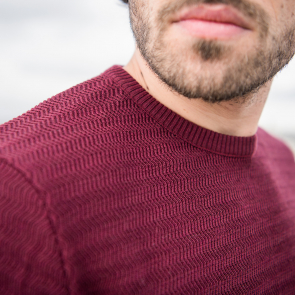 Le Icare prune - Pull homme