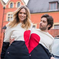 JUMPER - La aimée - Pullover navyblue red beige