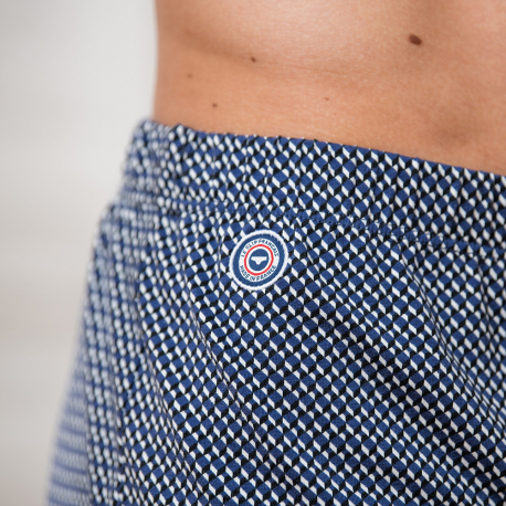 Jersey boxershort with 3D pattern