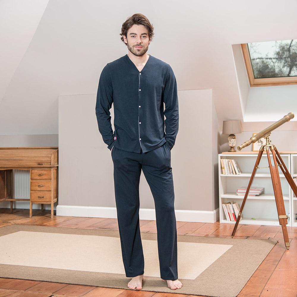 Le charles MARINE - Bas pyjama MARINE