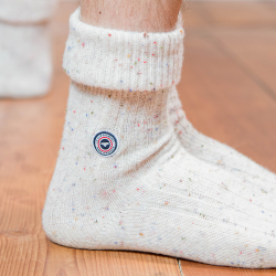 Les Janvier Beige - Beigefarbene Socken