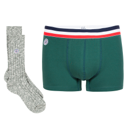 Packs - GIFTBOX MARIUS AND MARTIN Fir green - Boxer brief and socks