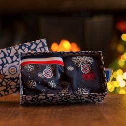 MONSIEUR - Geschenkbox Terrible und Lucas Schneeflocke - Slip und Socken mit Muster