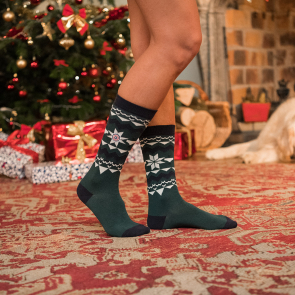 Les lucas fir green pattern - Green socks with pattern
