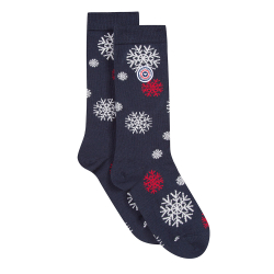 For Her - Les lucas snowflakes - Navyblue socks with pattern