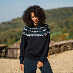 JUMPER - Le rodolphe navyblue - Navyblue pullover with pattern