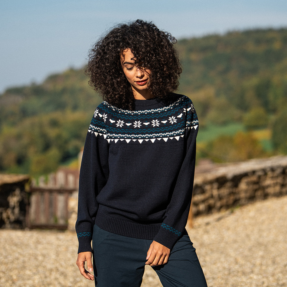 Le Rodolph marine - Pull couronne femme