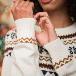 JUMPER - Le rodolphe beige - Beige pullover with pattern