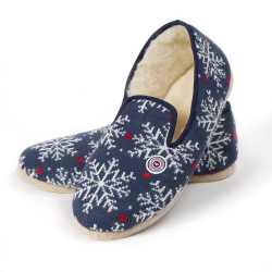 Les charentaises Snowflake - Slippers with pattern