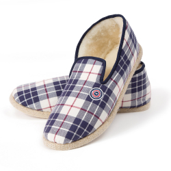 LE GRAND FROID - Les Charentaises tartan prune - Chaussons