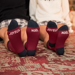 Les lucas JOYEUX NOEL - Burgundy red socks