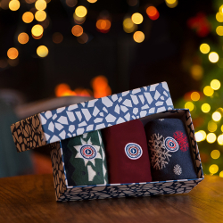 GIFT IDEAS - Gift box Lucas Christmas - Trio pack socks with pattern