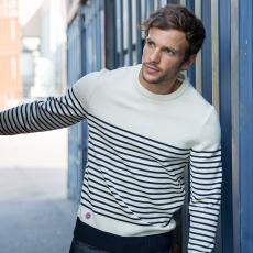 Le Marinière White - Striped Pullover