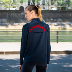 SWEAT-SHIRTS FEMME - La Roxane marine et écru - Sweat zippé