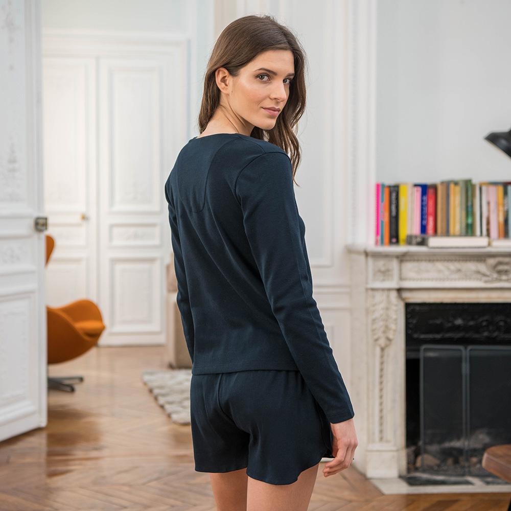 La suzie MARINE - Haut pyjama MARINE