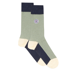 Les lucas tricolor khaki - Three-coloured socks