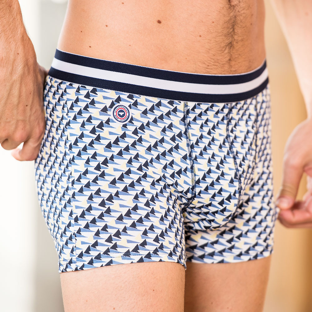 Le marius REGATTA - White boxer brief with print