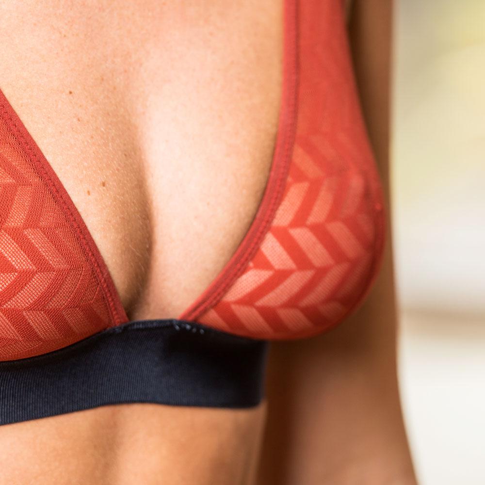 La Agathe Rouget/Marine - Soutien-gorge triangle rouget et marine
