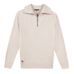 NOUVELLE COLLECTION - Le Marc - Pull homme camionneur sable