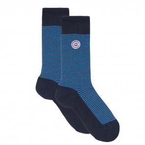 Les lucas blue striped - Striped socks