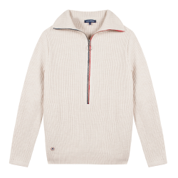 NOUVELLE COLLECTION - La Marcy Sable - Pull femme camionneur sable