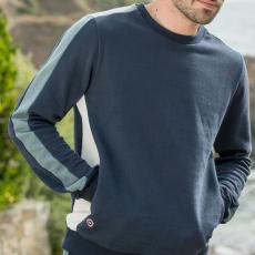 Le bastien Marineblau khaki beige - Sweatshirt in marineblau, khaki und beige