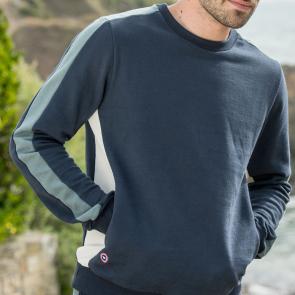 Sweat-shirt tricolore en coton