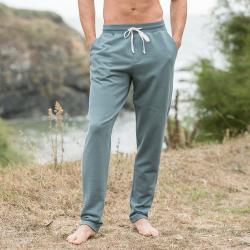 Le gaël khaki - Sweatpants in khaki and beige
