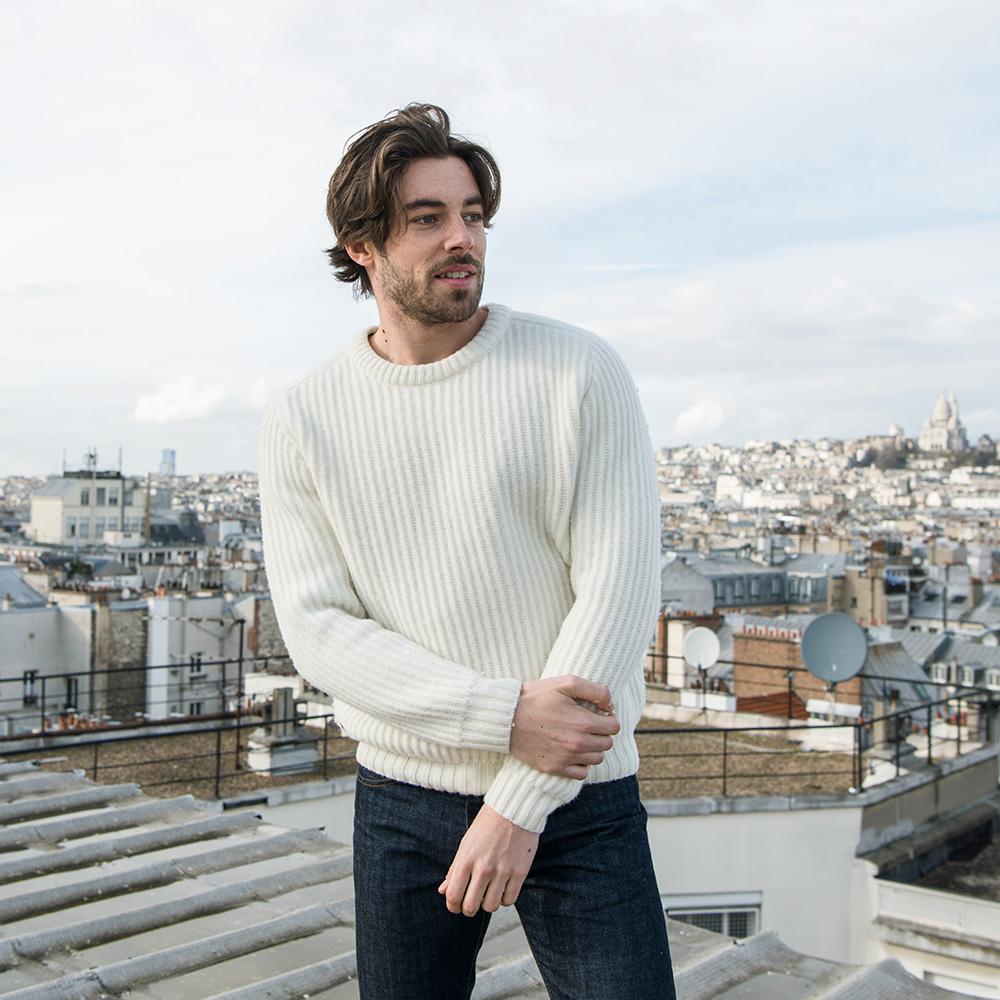 Maille Homme Ecru Le Slip Français