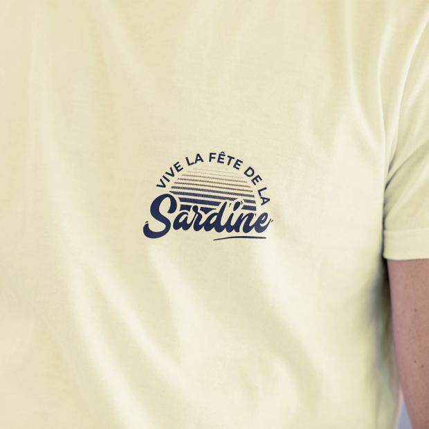 T-shirt granité sérigraphié