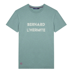 Le jean f L'HERMITE - Khakifarbenes T-Shirt mit Siebdruck