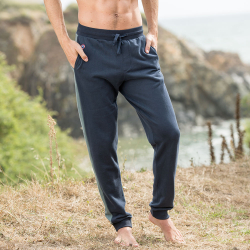 Clothing for him - Le sebastien navyblue khaki - Sweatpants in navyblue and khaki