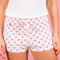 La tita hearts - White shorty with pattern