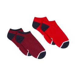 Lots chaussettes homme - Les Jo Rouge / rayées - Duo de chaussettes