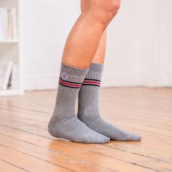 SOCKEN - Les andrea Graumeliert - Graumelierte Socken