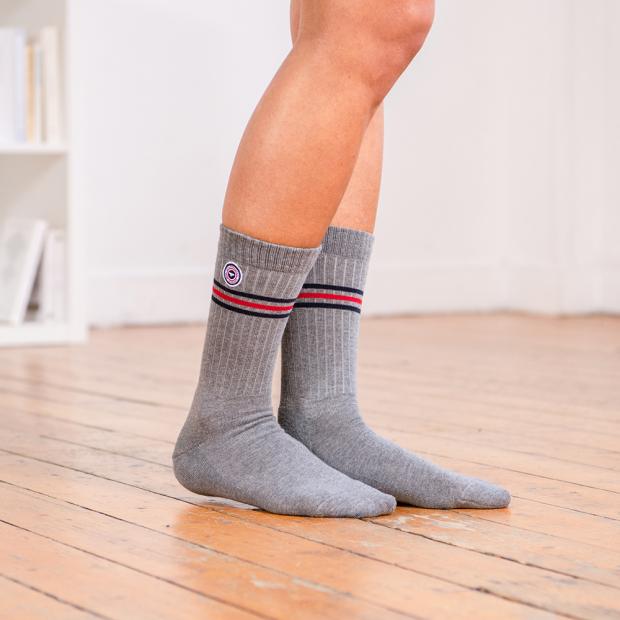 Mottled grey socks