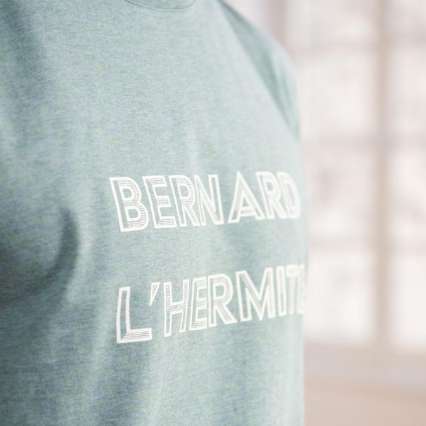 T-shirt kaki sérigraphié en coton