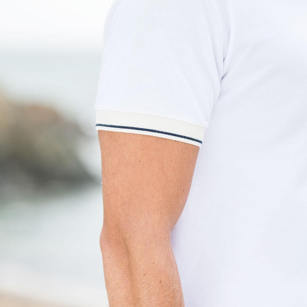 Georges ECRU/MARINE - Tshirt ECRU/MARINE