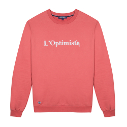 NOUVELLE COLLECTION - Le Barthe Corail - Sweat corail l'Optimiste