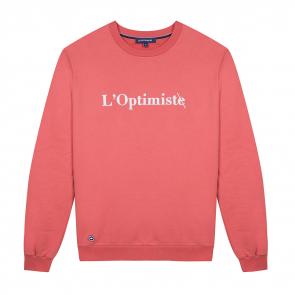 Sweatshirt in coral
