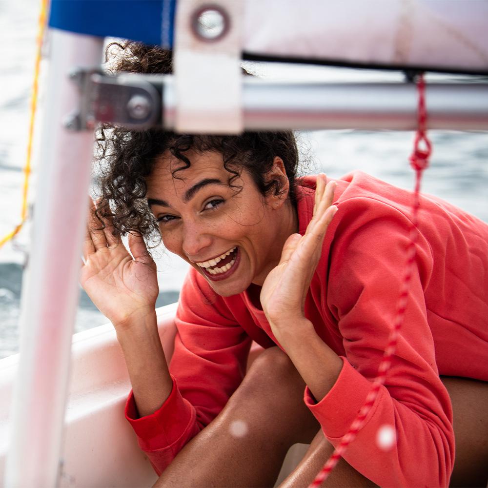 La Cassandre Corail - Sweat Corail L'Optimiste