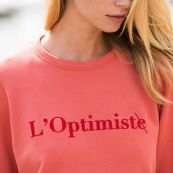 Vêtements Femme - La Cassandre Corail - Sweat Corail L'Optimiste