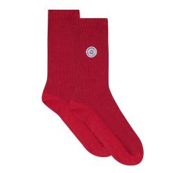 Les Lucas Piquées Rouge Foncé - Chaussettes pique