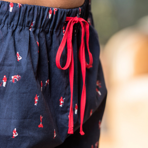 Pyjama Shorts in Blau