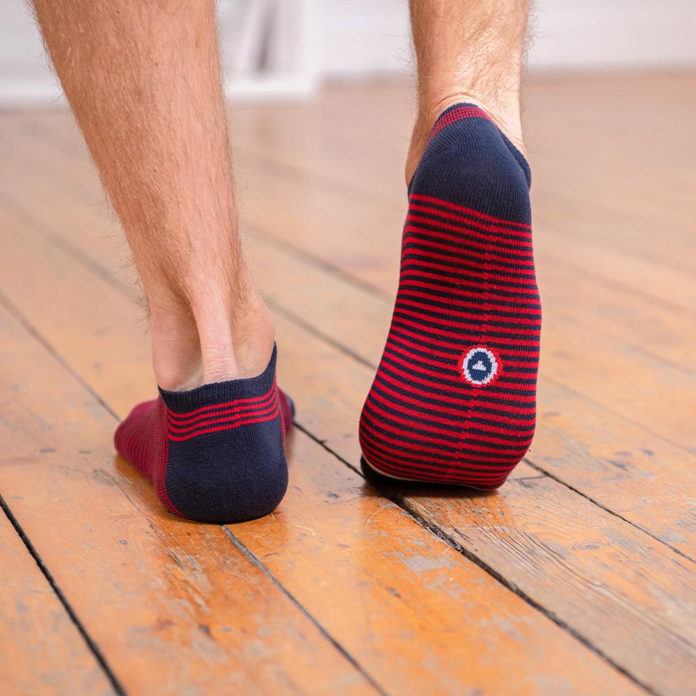 Les Jo Rouge / rayées - Duo de chaussettes