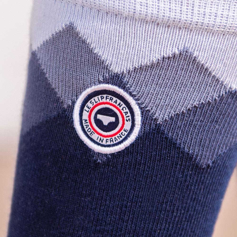 Les lucas CARRES MARINE - Chaussettes CARRES MARINE