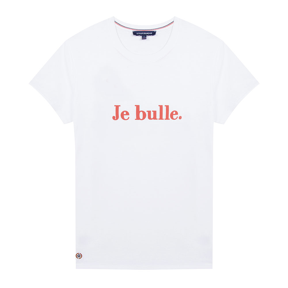 La Jeanne F Je Bulle - Tshirt BLANC / JE BULLE