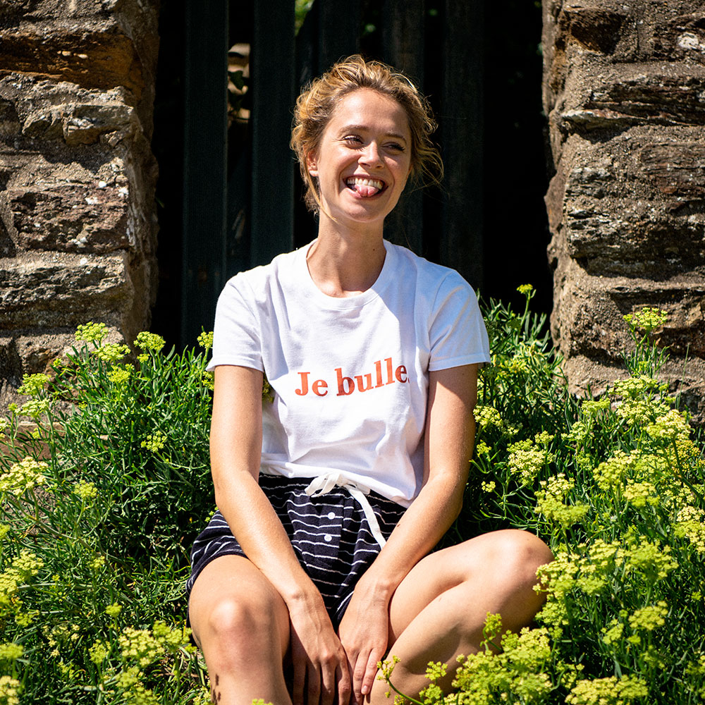 La jeanne f BLANC / JE BULLE - Tshirt BLANC / JE BULLE